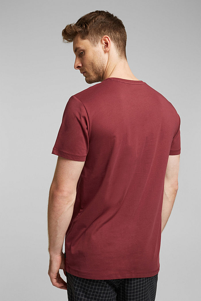 Jersey T-shirt in 100% cotton, BORDEAUX RED, detail image number 3
