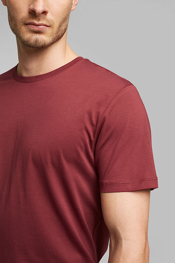 Jersey T-shirt in 100% cotton, BORDEAUX RED, detail image number 1