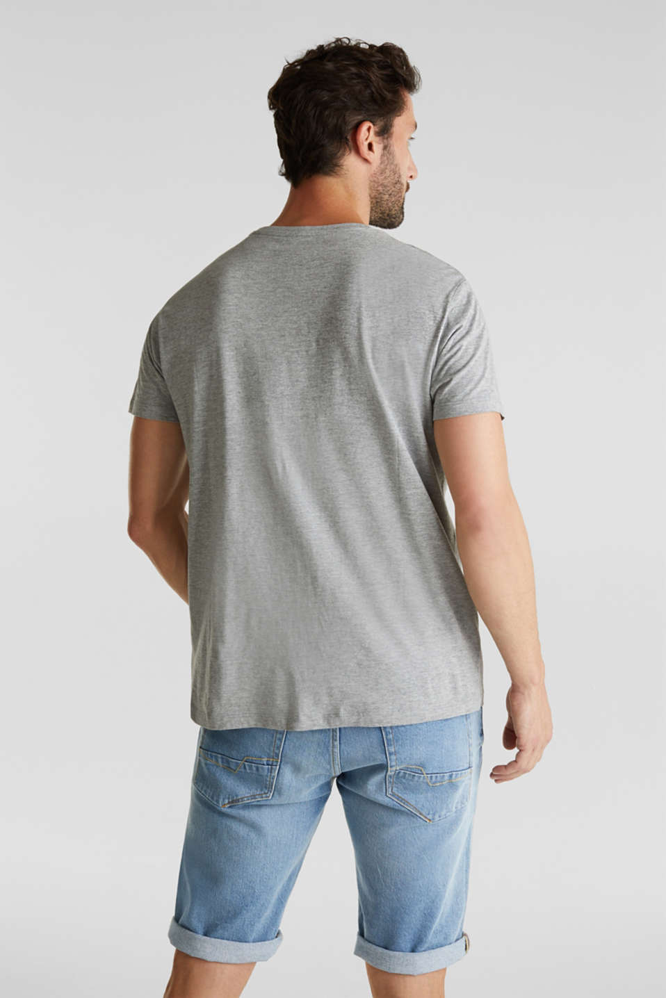 jersey T-shirt with a round neckline, MEDIUM GREY 5, detail image number 3