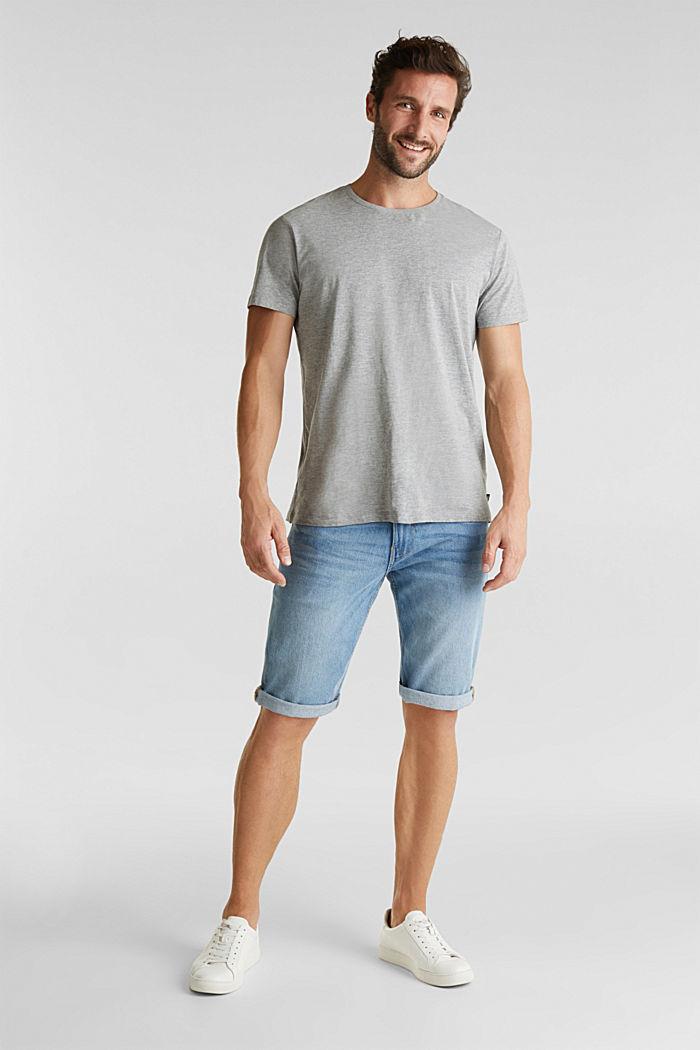 Jersey-Shirt mit Rundhals-Ausschnitt, MEDIUM GREY, detail image number 0