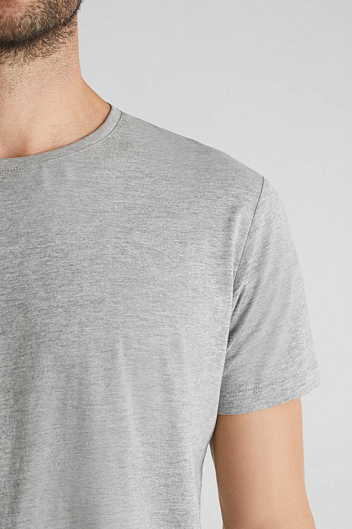 jersey T-shirt with a round neckline, MEDIUM GREY, detail image number 1