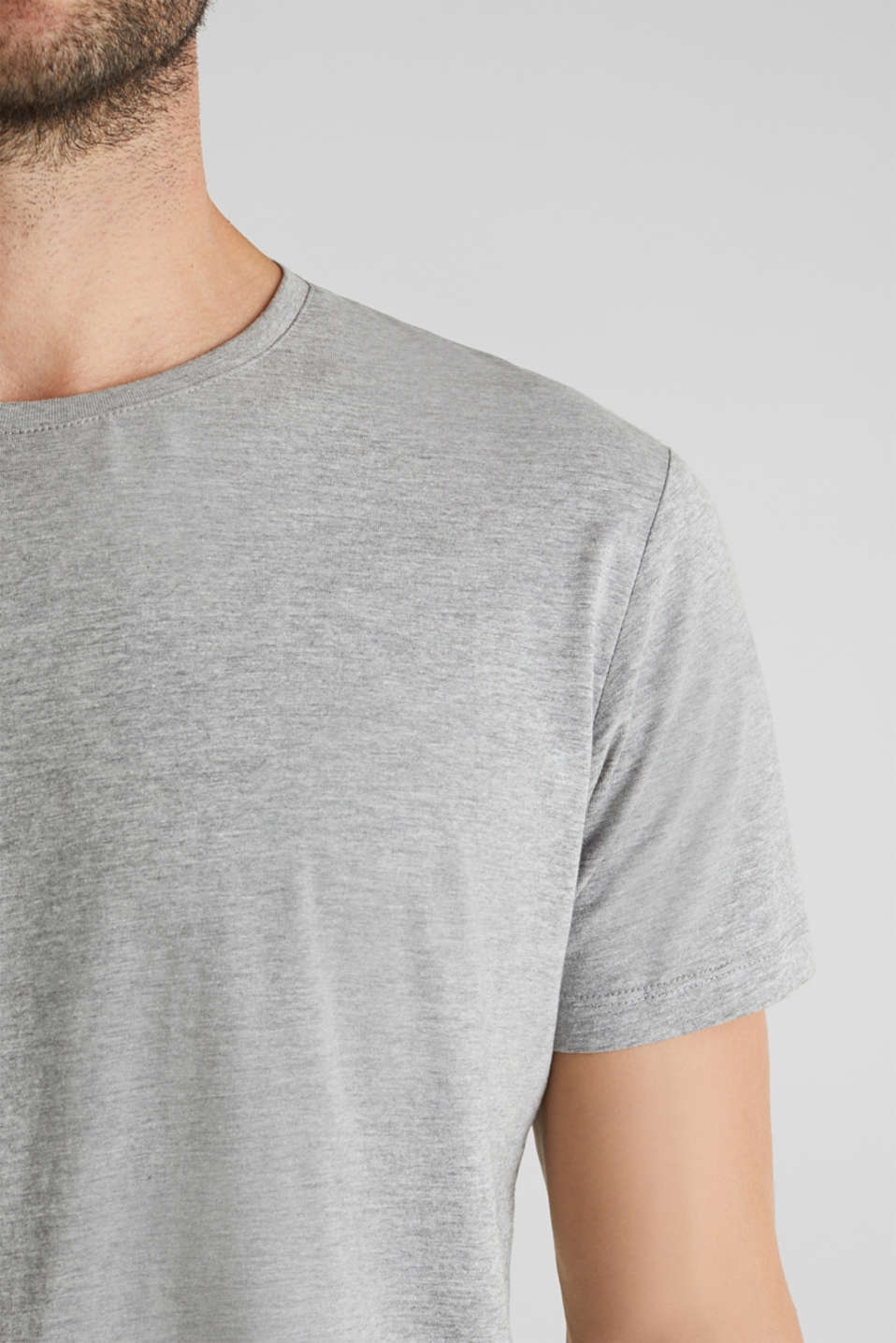 jersey T-shirt with a round neckline, MEDIUM GREY 5, detail image number 1