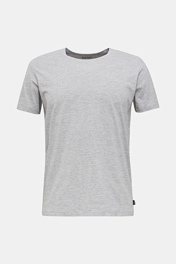 jersey T-shirt with a round neckline, MEDIUM GREY, detail image number 6