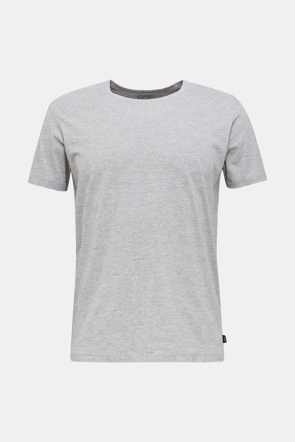 jersey T-shirt with a round neckline, MEDIUM GREY 5, detail image number 6