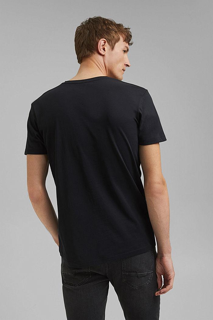 Jersey-Shirt aus 100% Baumwolle, BLACK, detail image number 3