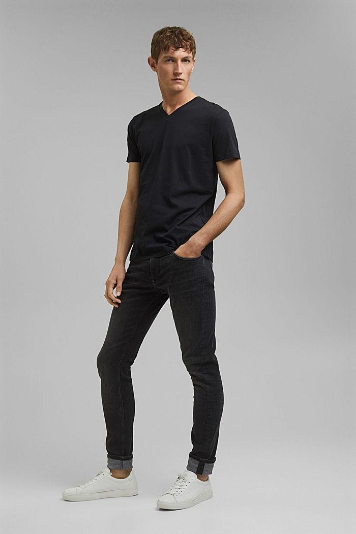 Jersey-Shirt aus 100% Baumwolle, BLACK, detail image number 2