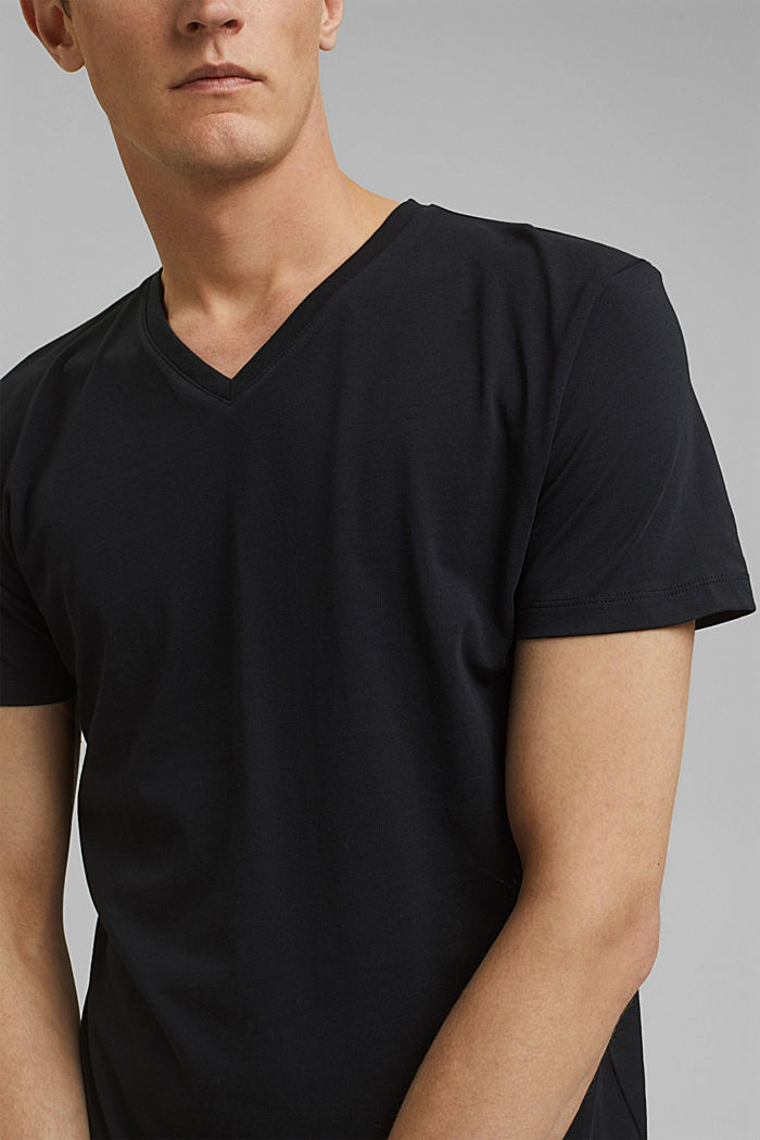 Jersey T-shirt in 100% cotton, BLACK, detail image number 1