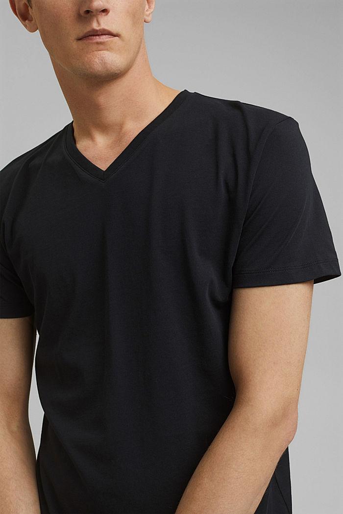 Jersey-Shirt aus 100% Baumwolle, BLACK, detail image number 1