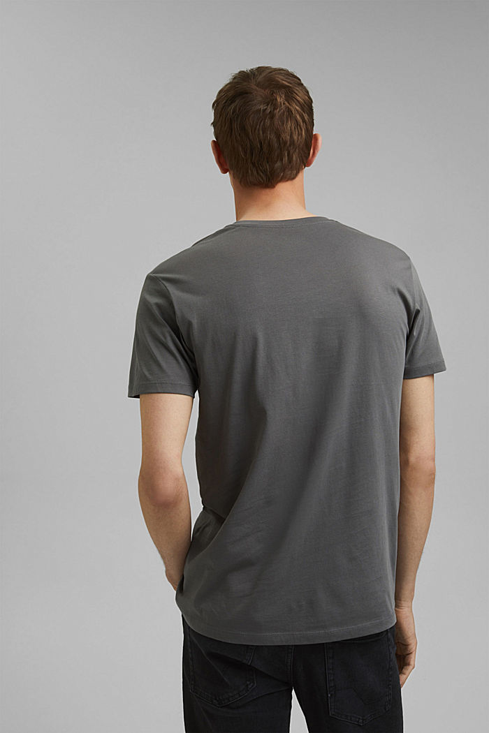 Jersey T-shirt in 100% cotton, DARK GREY, detail image number 3