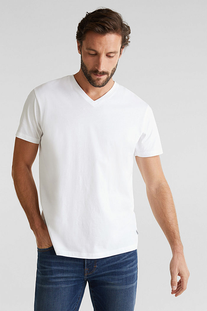Jersey T-shirt in 100% cotton, WHITE, detail image number 4