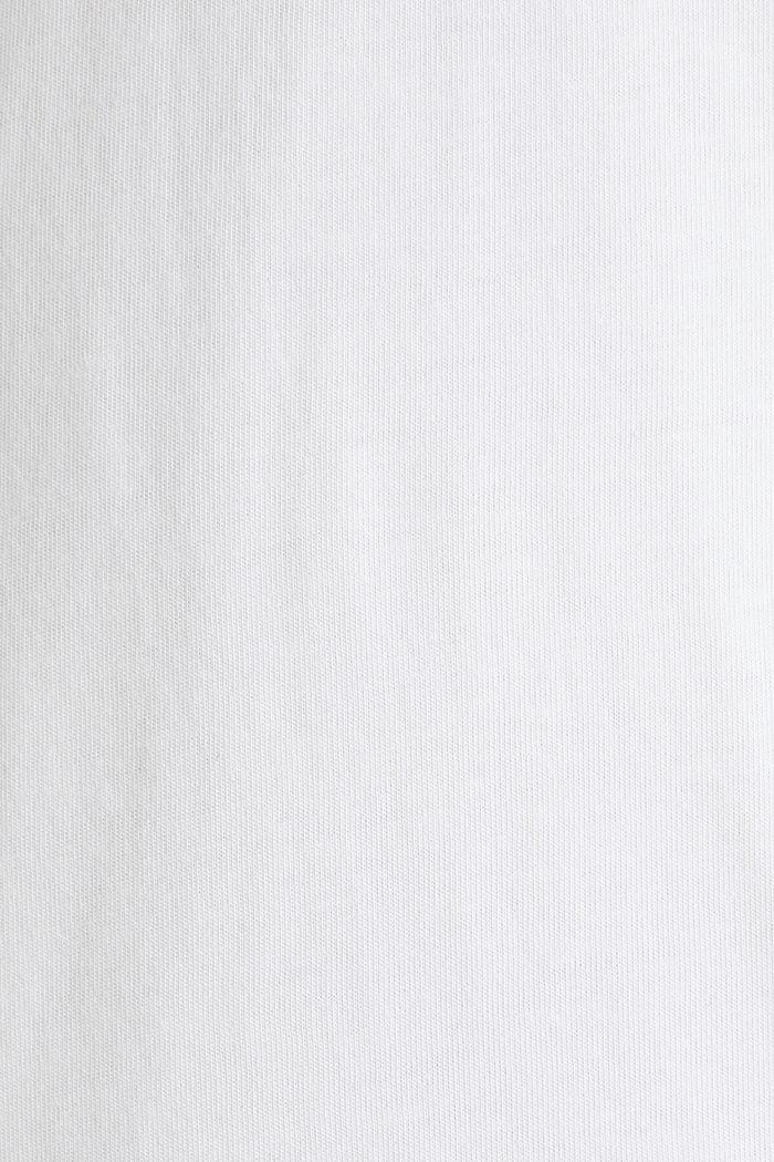 Camiseta de jersey en 100% algodón, WHITE, detail image number 5