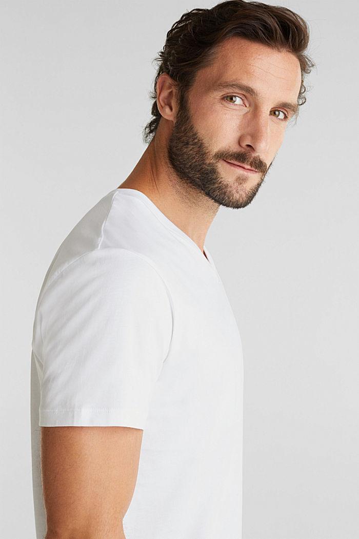 Camiseta de jersey en 100% algodón, WHITE, detail image number 6