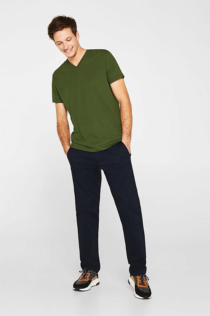 Jersey shirt van 100% katoen, KHAKI GREEN, detail image number 4