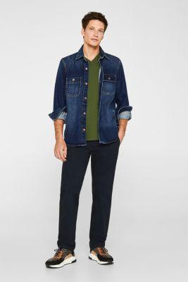 Jersey T-shirt in 100% cotton, KHAKI GREEN, detail