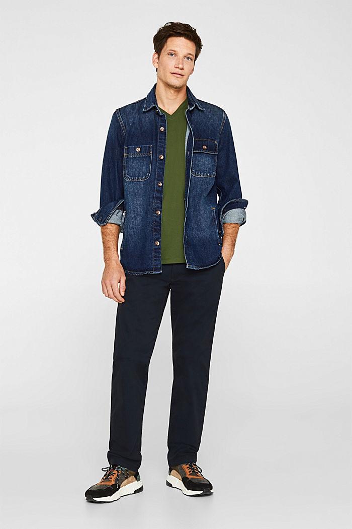 Jersey shirt van 100% katoen, KHAKI GREEN, detail image number 2
