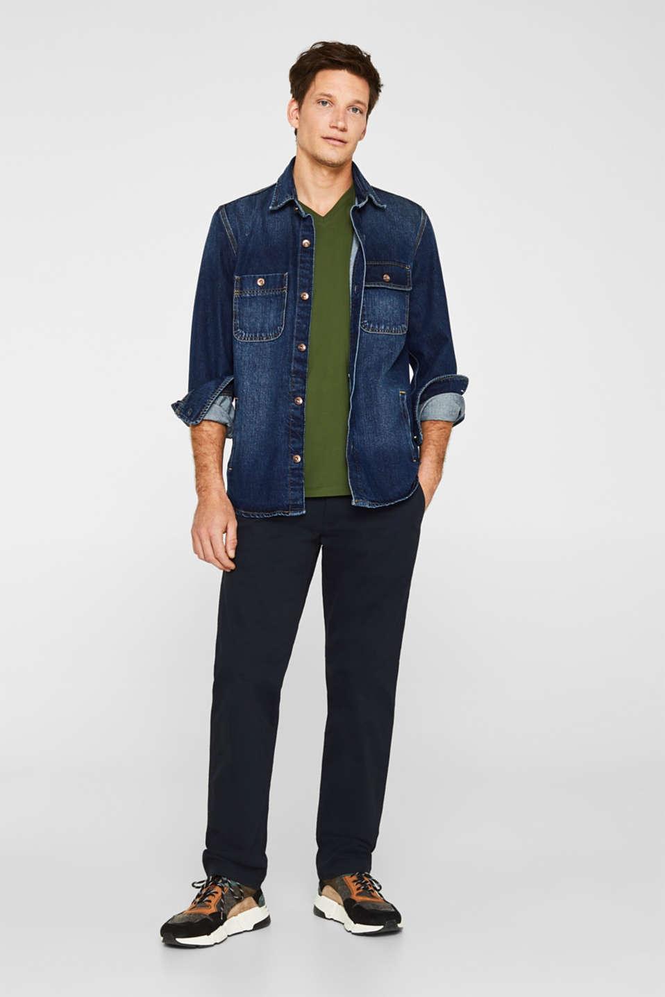 Jersey T-shirt in 100% cotton, KHAKI GREEN, detail image number 2