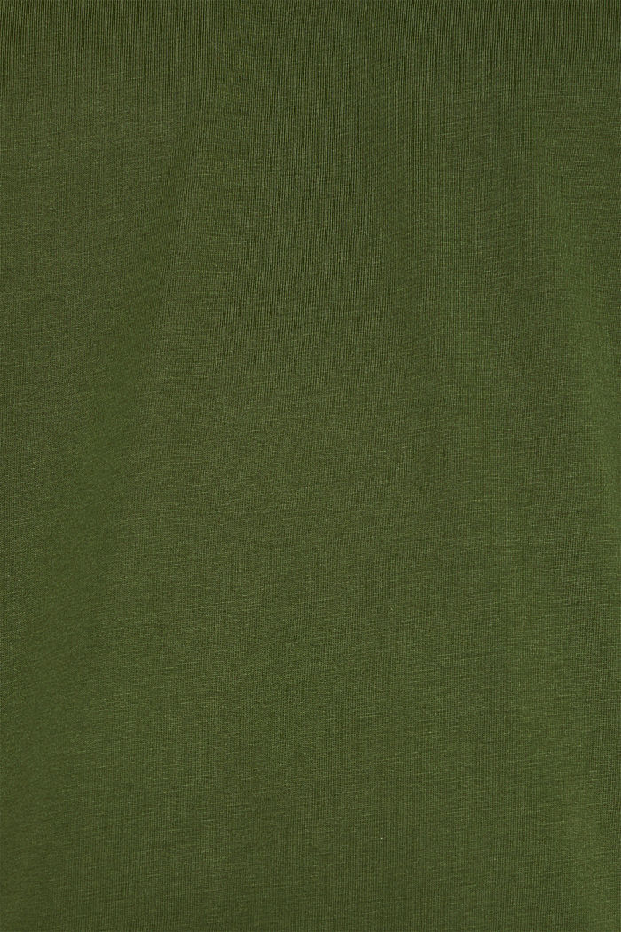 Jersey shirt van 100% katoen, KHAKI GREEN, detail image number 5
