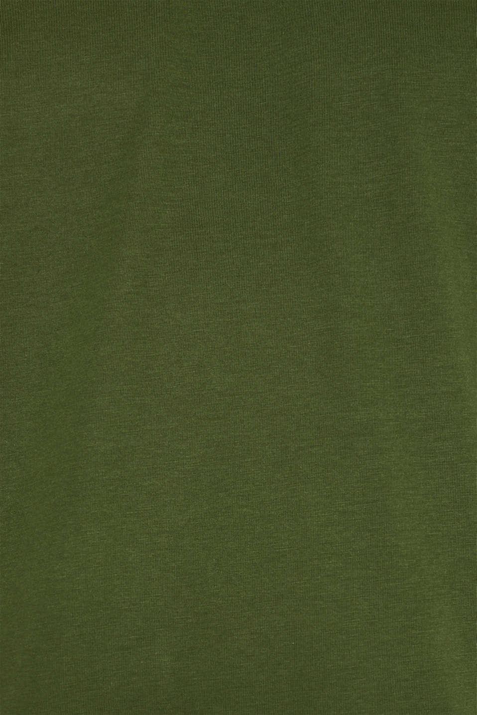 Jersey T-shirt in 100% cotton, KHAKI GREEN, detail image number 5