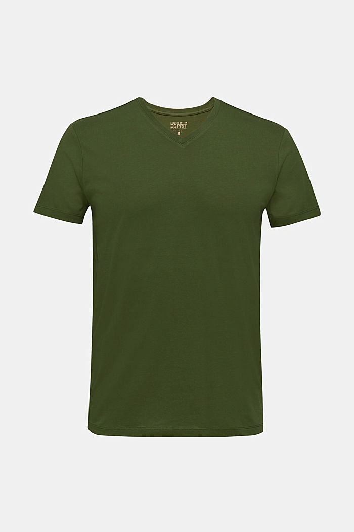Jersey shirt van 100% katoen, KHAKI GREEN, detail image number 7