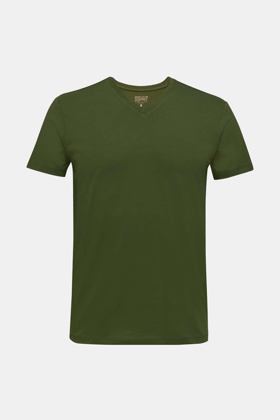 Jersey T-shirt in 100% cotton, KHAKI GREEN, detail image number 7