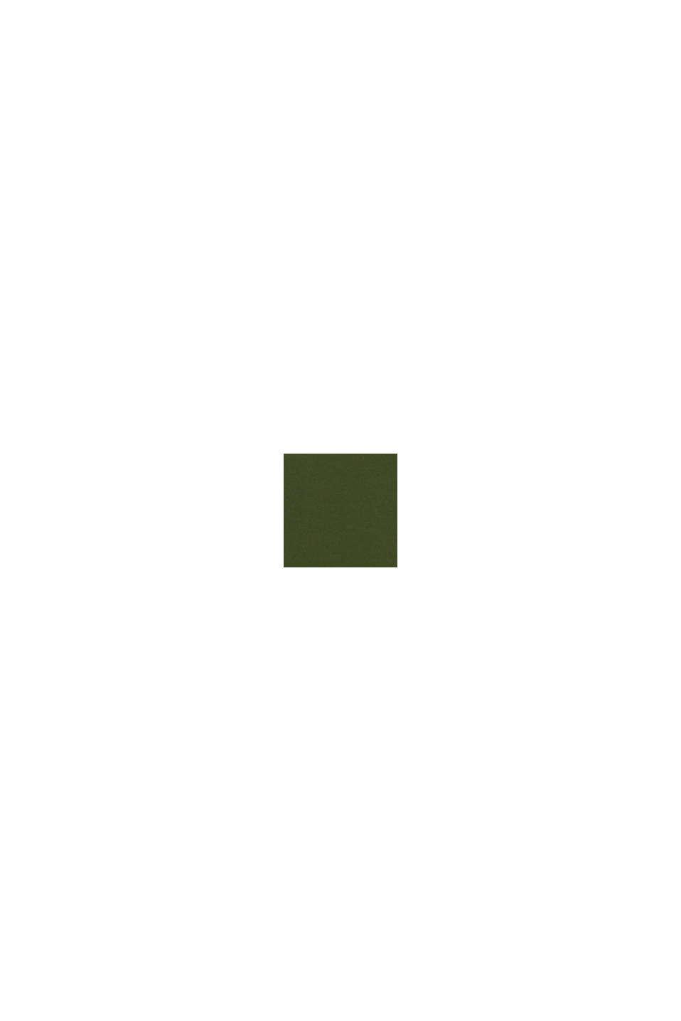 Jersey shirt van 100% katoen, KHAKI GREEN, swatch
