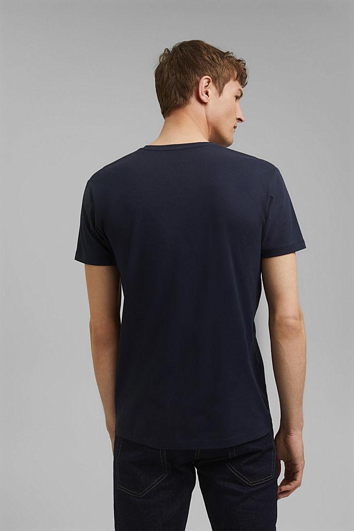 Jersey-Shirt aus 100% Baumwolle, NAVY, detail image number 3