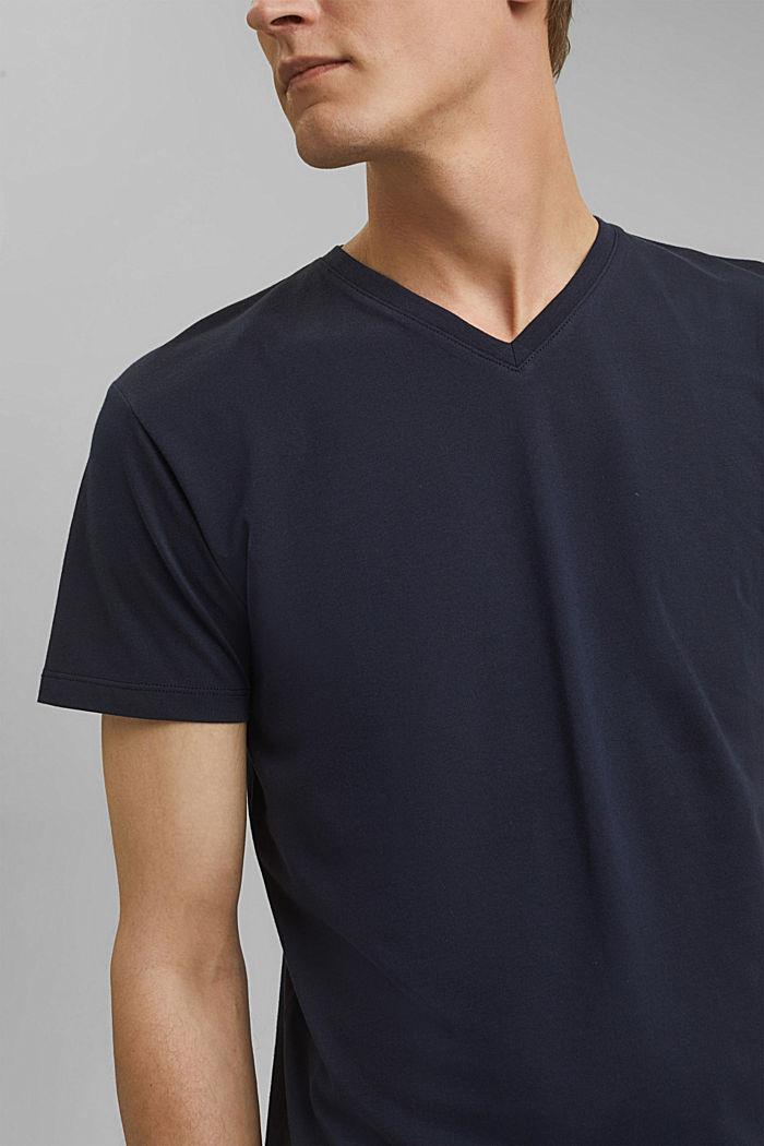 Jersey-Shirt aus 100% Baumwolle, NAVY, detail image number 1