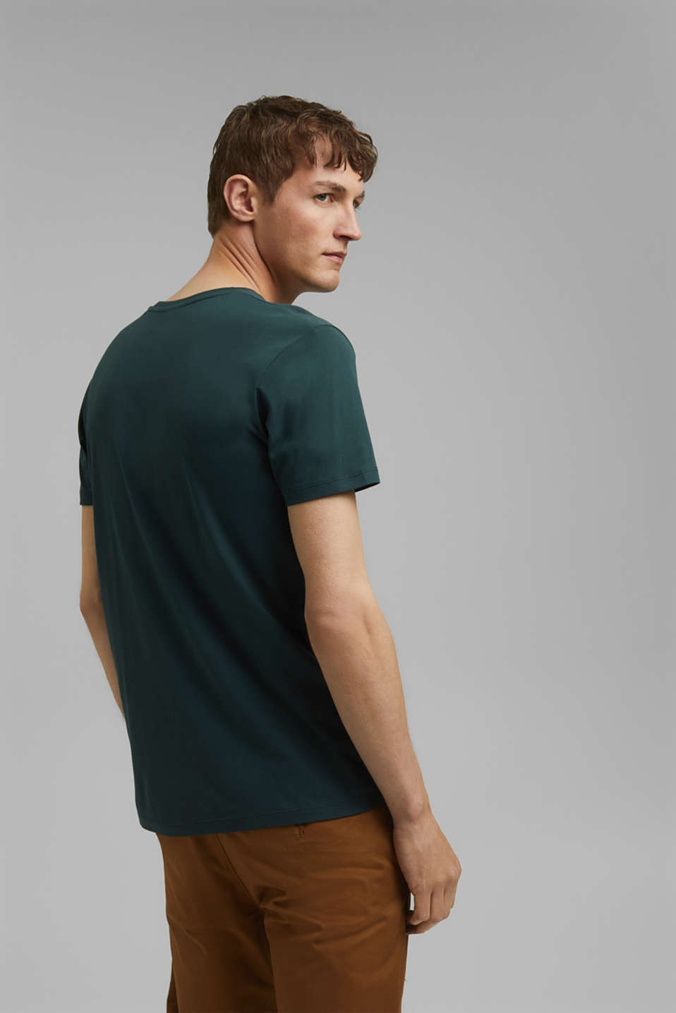 Jersey T-shirt in 100% cotton, TEAL BLUE, detail image number 3