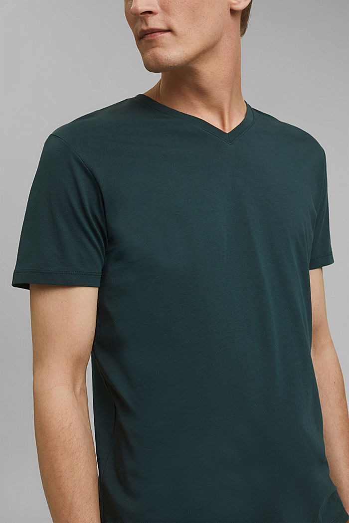 Maglia in jersey in 100% cotone, TEAL BLUE, detail image number 1