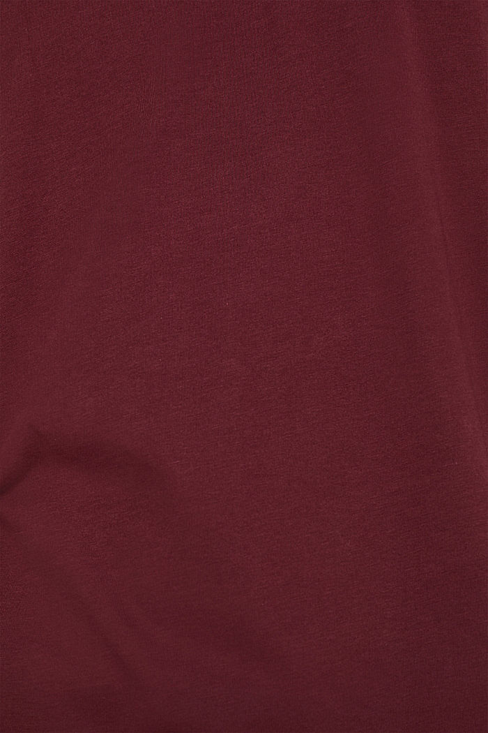 Jersey T-shirt in 100% cotton, BORDEAUX RED, detail image number 4