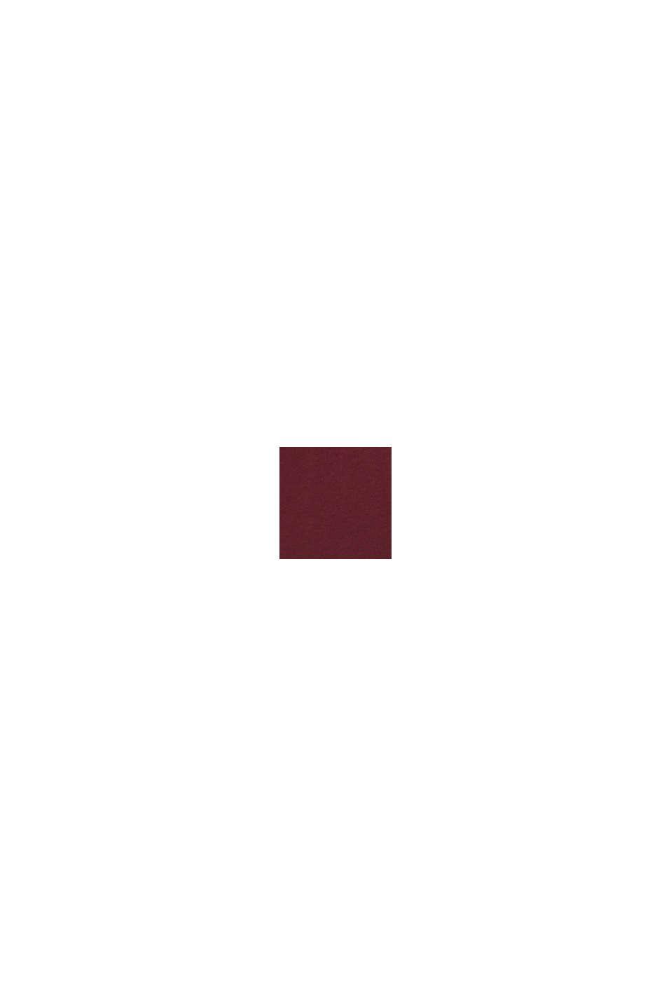 Haut en jersey 100% coton, BORDEAUX RED, swatch