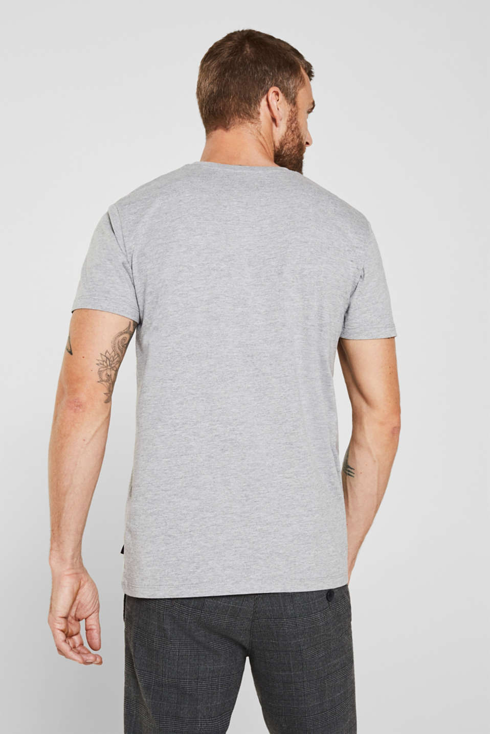 Jersey T-shirt with a V-neckline, MEDIUM GREY 5, detail image number 3