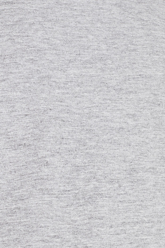 Jersey T-shirt with a V-neckline, MEDIUM GREY, detail image number 4