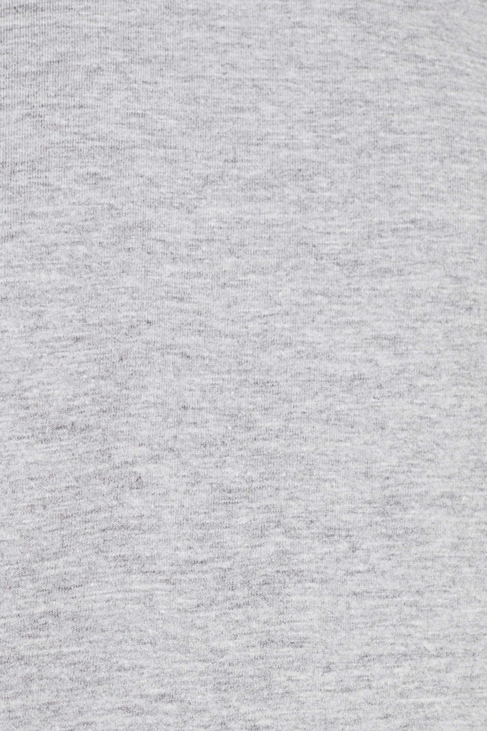 Jersey T-shirt with a V-neckline, MEDIUM GREY 5, detail image number 4