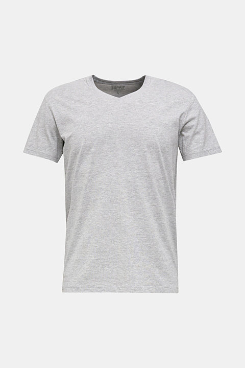 Jersey T-shirt with a V-neckline