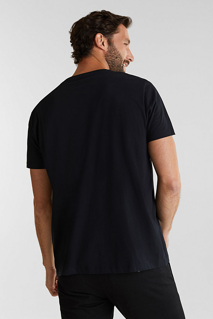 Jersey T-shirt with a logo print, 100% cotton, BLACK, detail image number 2