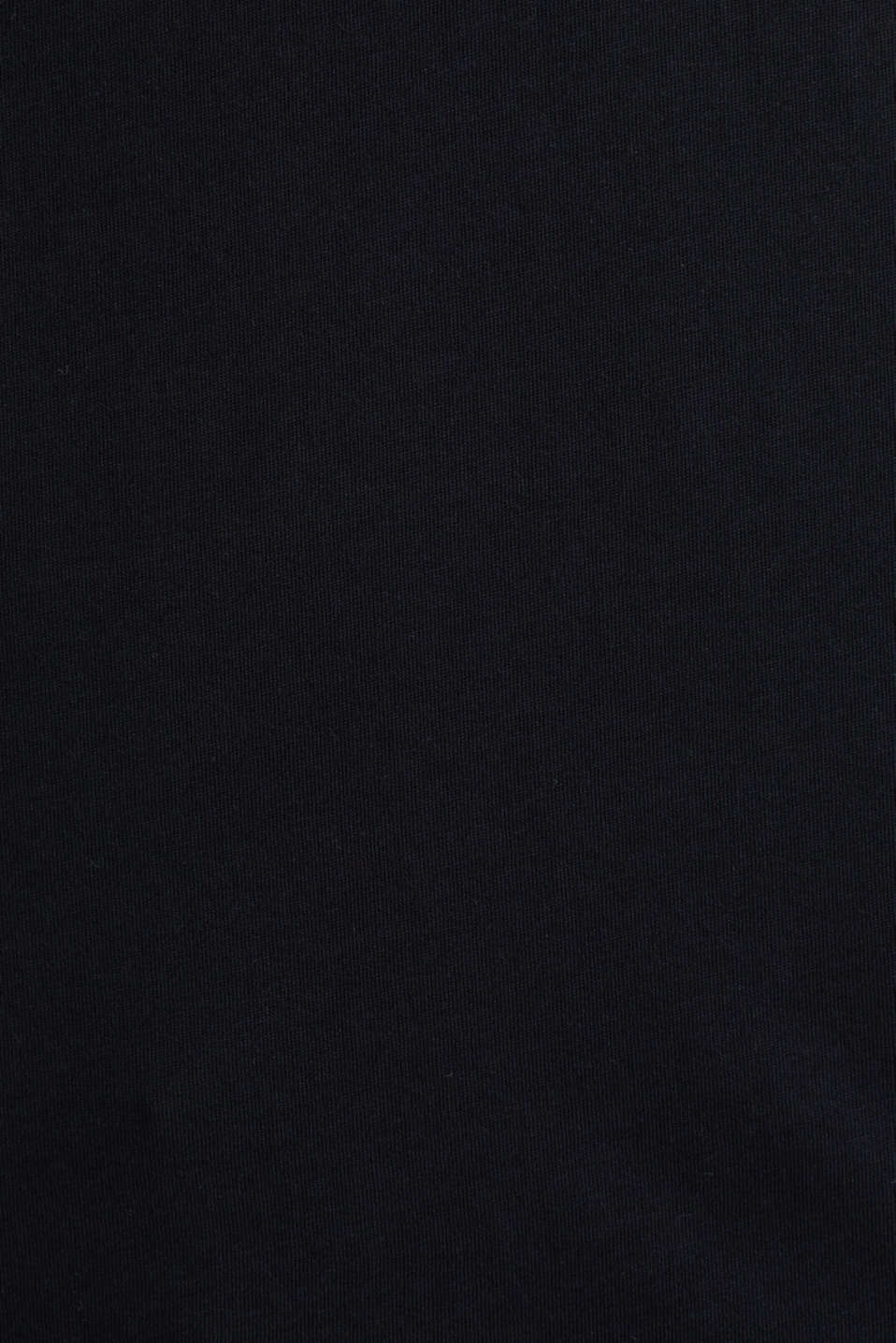 Jersey T-shirt with a logo print, 100% cotton, BLACK, detail image number 4