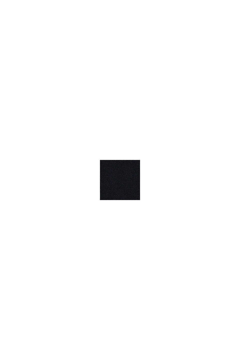 Logokuvioitu jersey-T-paita, 100 % puuvillaa, BLACK, swatch