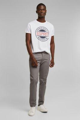 Jersey T-shirt with a logo print, 100% cotton, WHITE, detail