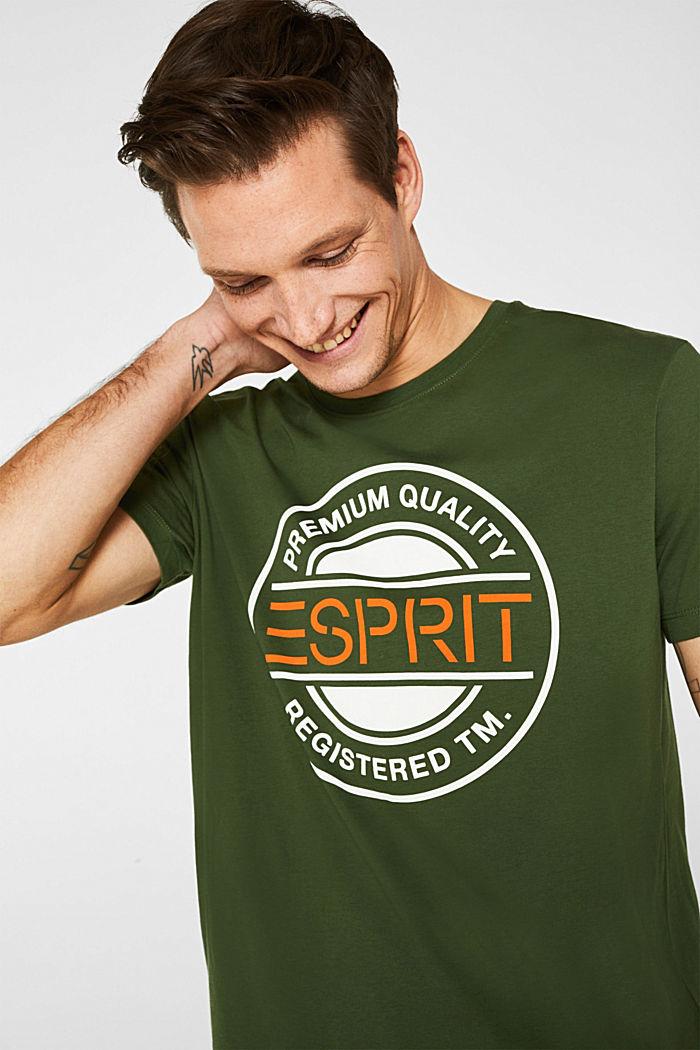 Jersey T-shirt with a logo print, 100% cotton