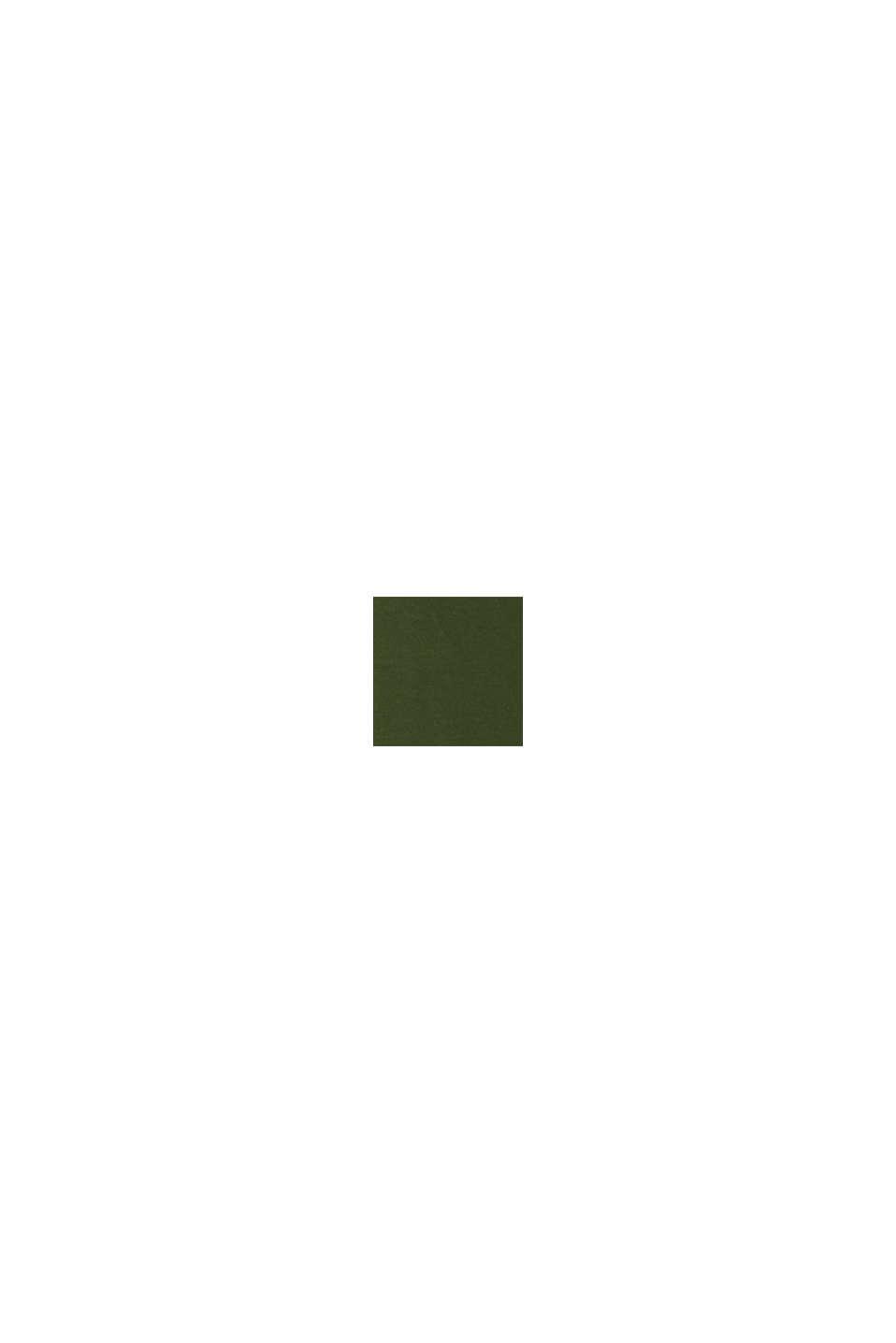 Jersey-T-shirt med logoprint, 100% bomuld, KHAKI GREEN, swatch