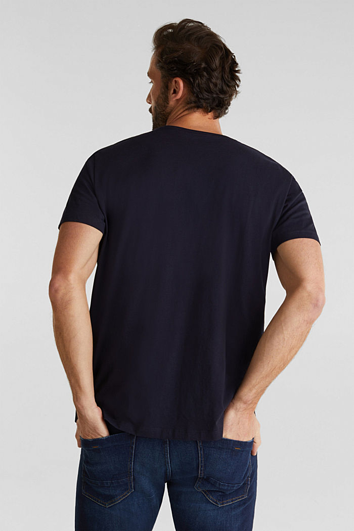 Jersey T-shirt with a logo print, 100% cotton, NAVY, detail image number 2