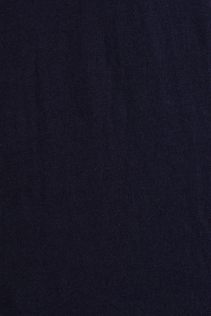 Jersey T-shirt with a logo print, 100% cotton, NAVY, detail image number 4