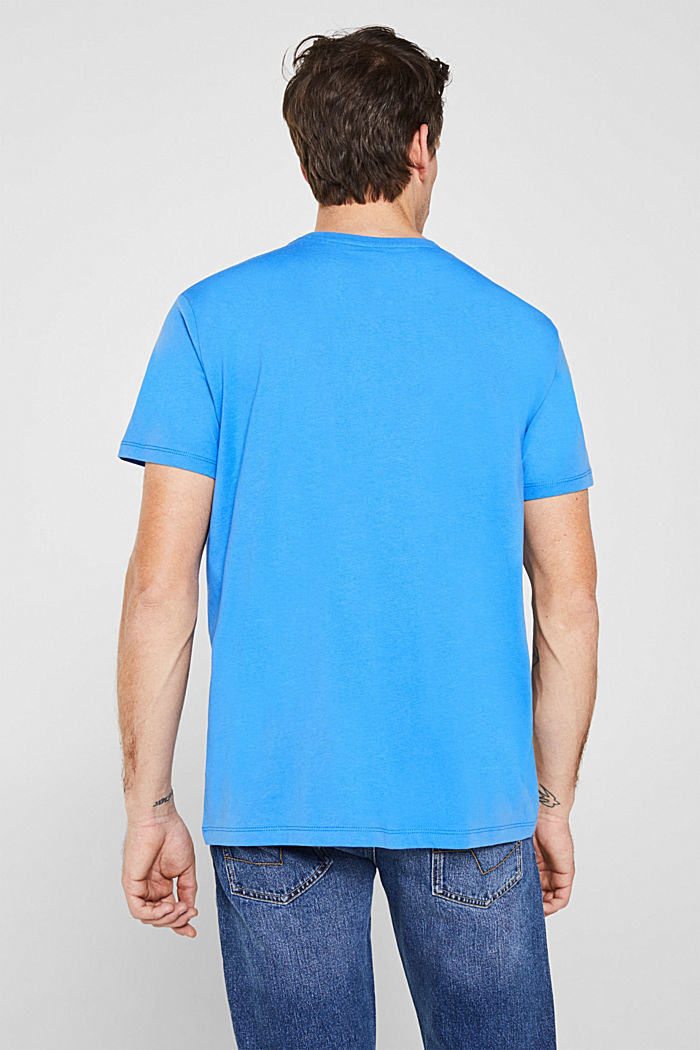 Jersey-T-Shirt mit Logo-Print, 100% Baumwolle, BRIGHT BLUE, detail image number 3
