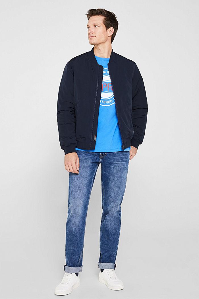 Jersey-T-Shirt mit Logo-Print, 100% Baumwolle, BRIGHT BLUE, detail image number 2
