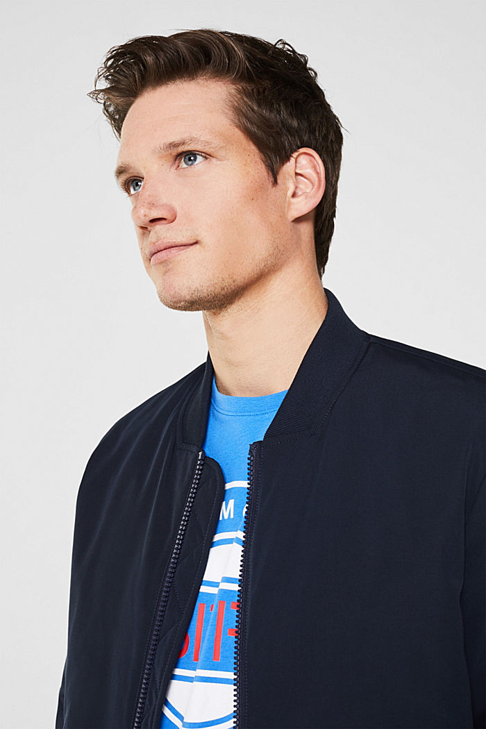Jersey-T-Shirt mit Logo-Print, 100% Baumwolle, BRIGHT BLUE, detail image number 6
