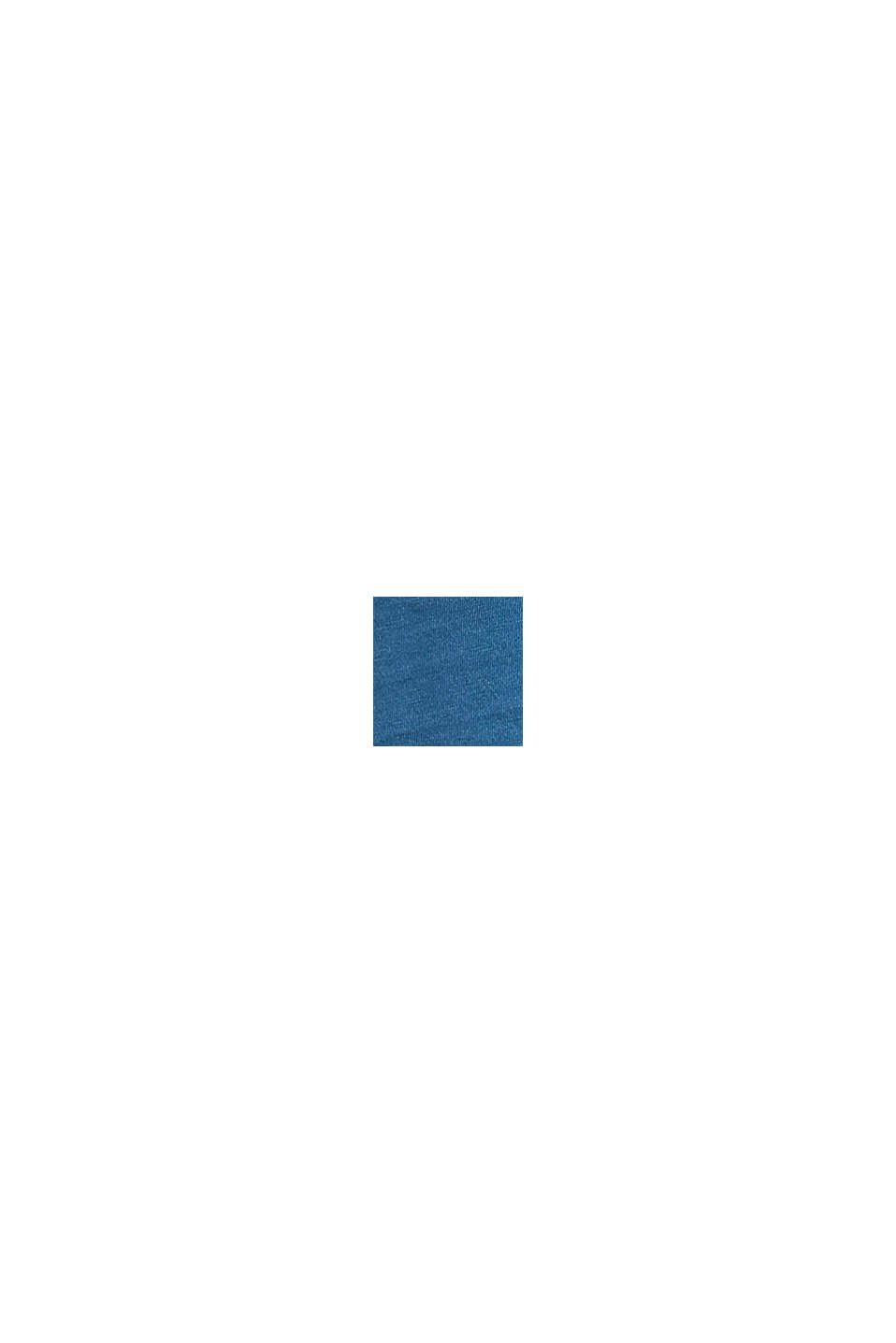 Logokuvioitu jersey-T-paita, 100 % puuvillaa, PETROL BLUE, swatch