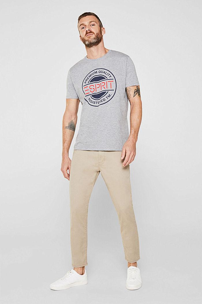 Jersey shirt met logoprint, MEDIUM GREY, detail image number 4