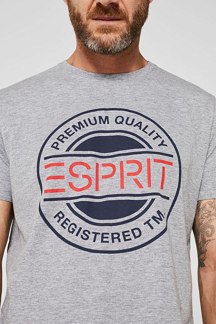 Jersey shirt met logoprint, MEDIUM GREY, detail image number 6
