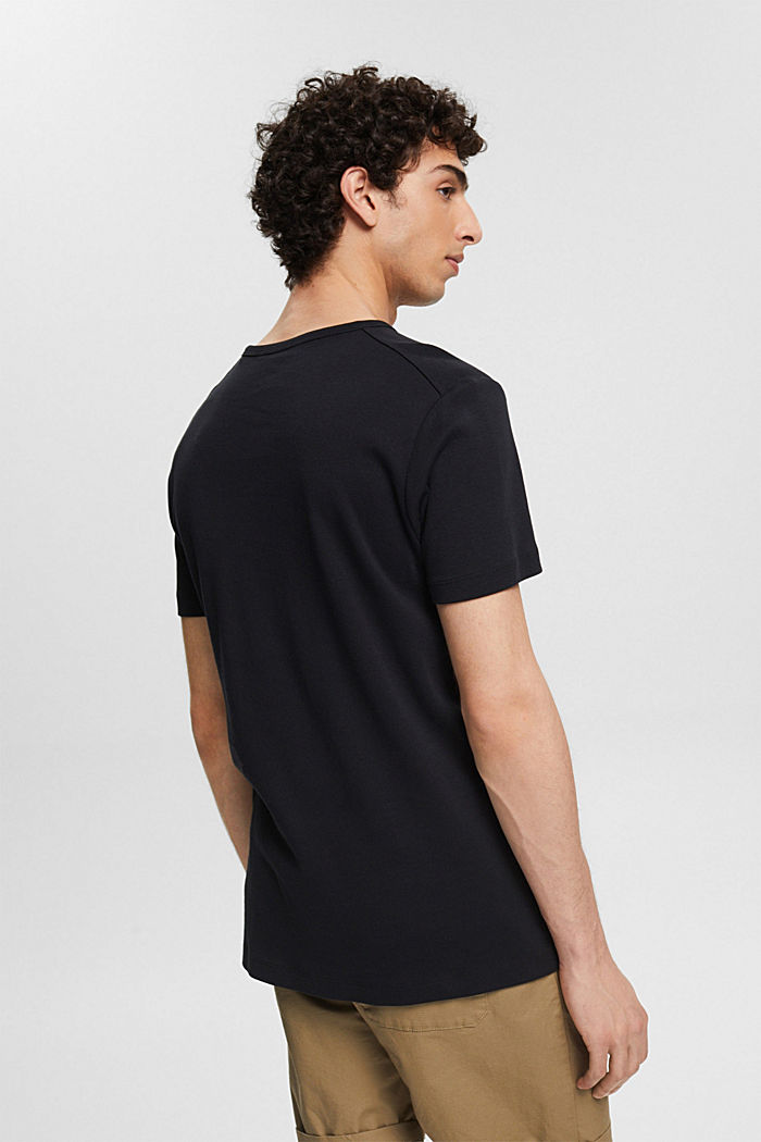 Ribbed jersey top made of 100% cotton, BLACK, detail image number 3